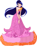 Musa in pink Dress