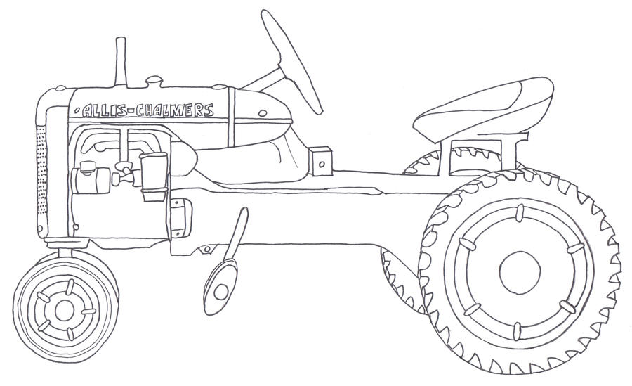 allis chalmers tractor coloring pages - photo#1
