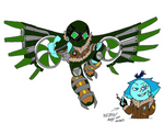 Aquamarine as the vulture