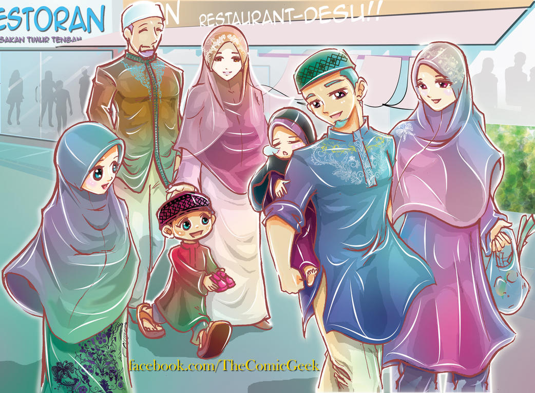 Muslim Happy Family By Joejitakash