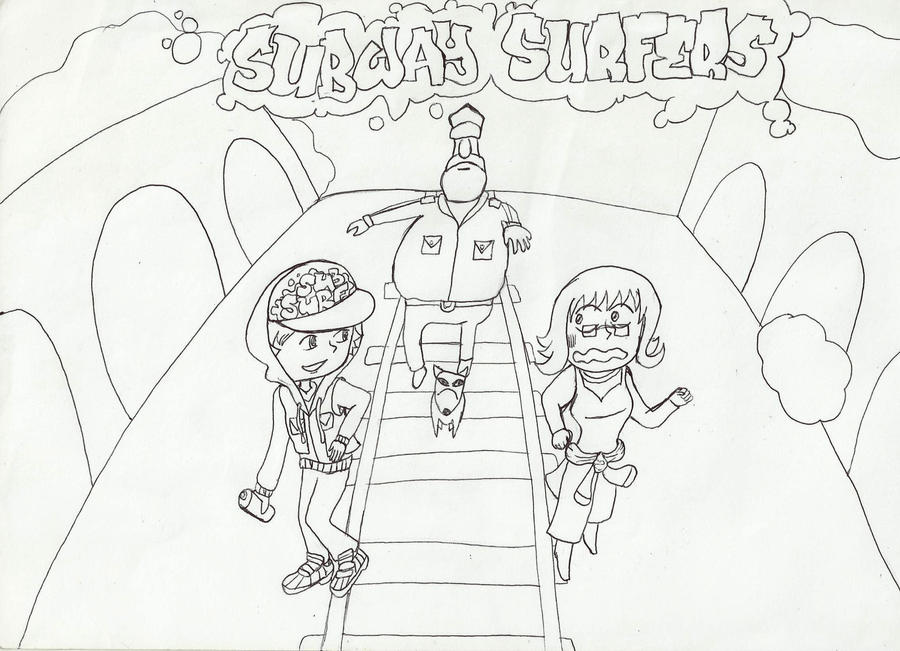 Me in subway surfers by dandandanao on deviantart for Subway surfers coloring pages