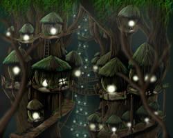 Ewok Village by phexus