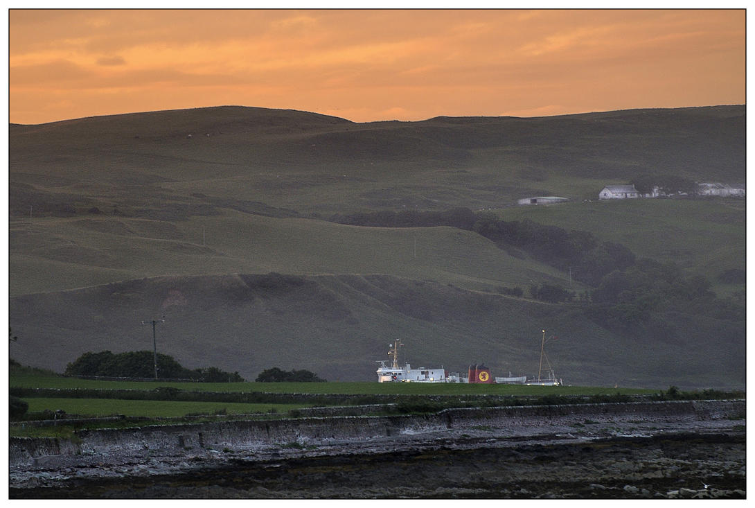 Caledonian MacBrayne ferry into Campbeltown by Dr-Koesters