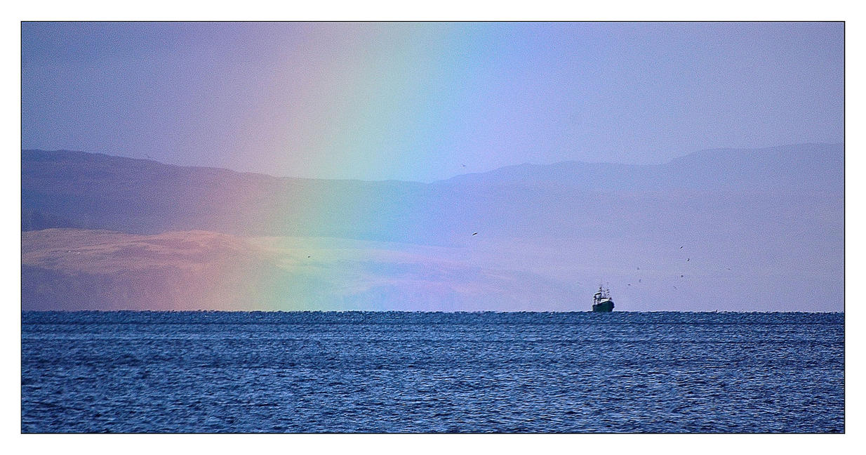 Rainbow ship by Dr-Koesters