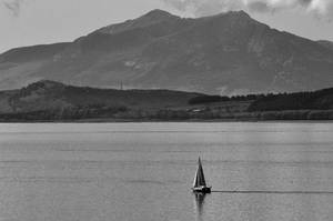Some ship in front of Arran Scotland
