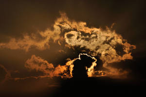 Weather Rohrschach (Sunset behind the clouds)