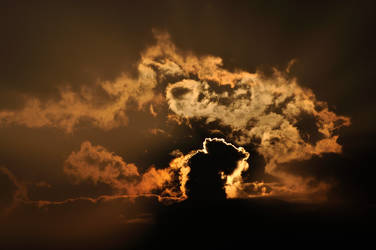 Weather Rohrschach (Sunset behind the clouds) by Dr-Koesters