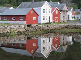 Norway Village Reflection 1 by RozenGT