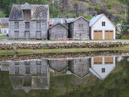 Norway Village Reflection 2 by RozenGT