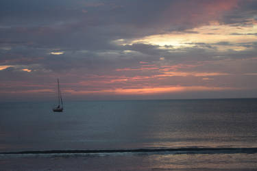 A Sailboat and a Sunset #1 by RozenGT