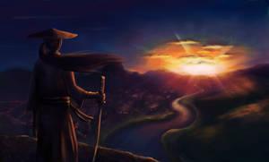 samurai on the sunset.