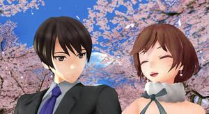Hiyama Kiyoteru x Meiko Yume to Hazakura by GingerCat911