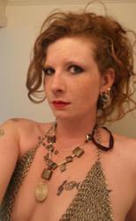 Lace-maille bikini top by Gilleban