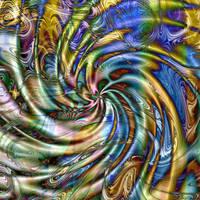 Segmented Spiral Ripple Flow by Kancano