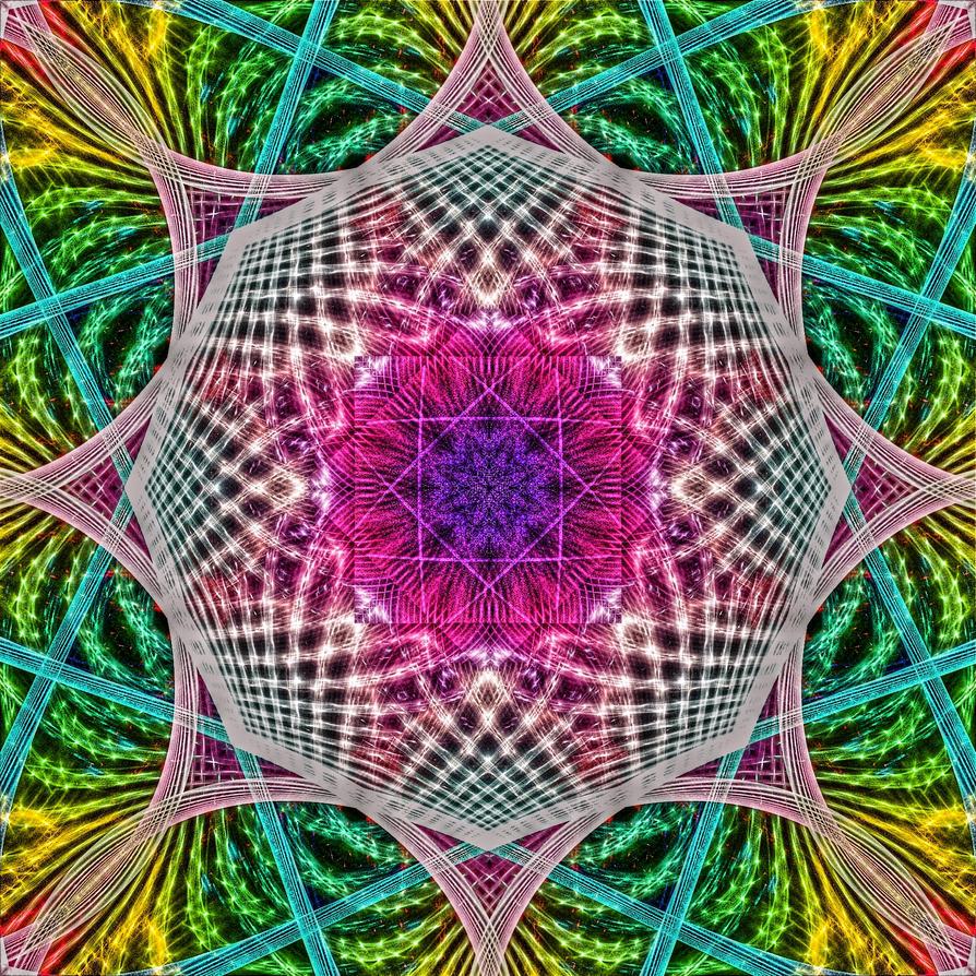 3D Rainbow Mandala by Kancano
