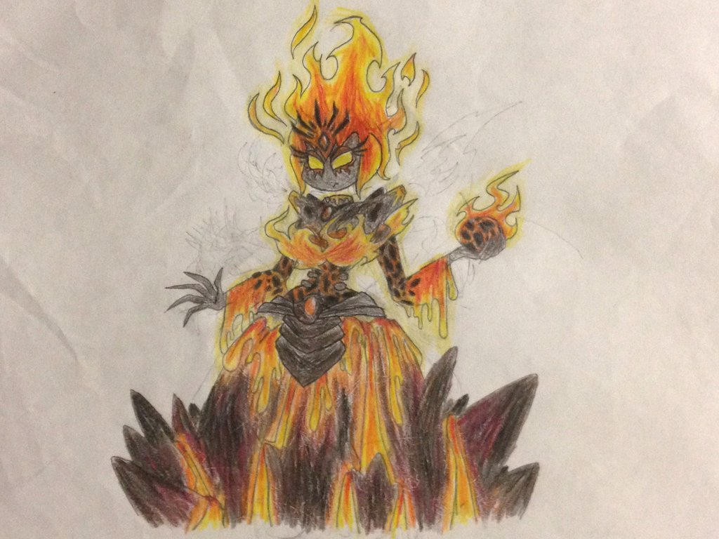 Rayman chronicles boss: Queen magma  by nathandlneumann