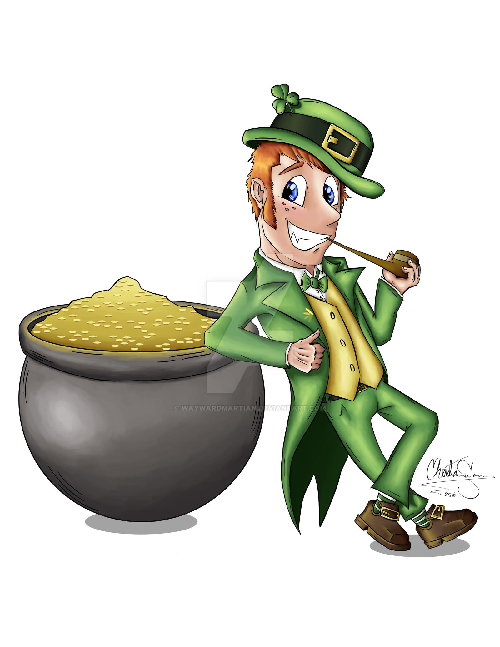 St Patty Leprechaun by WaywardMartian