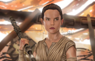 Rey by WaywardMartian