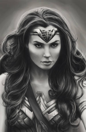 Black and White Wonder Woman (Gal Gadot)