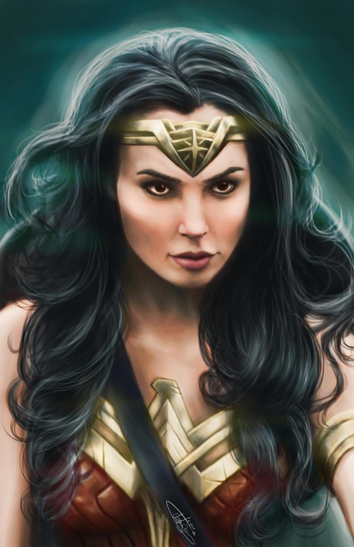 Wonder Woman (Gal Gadot) by WaywardMartian