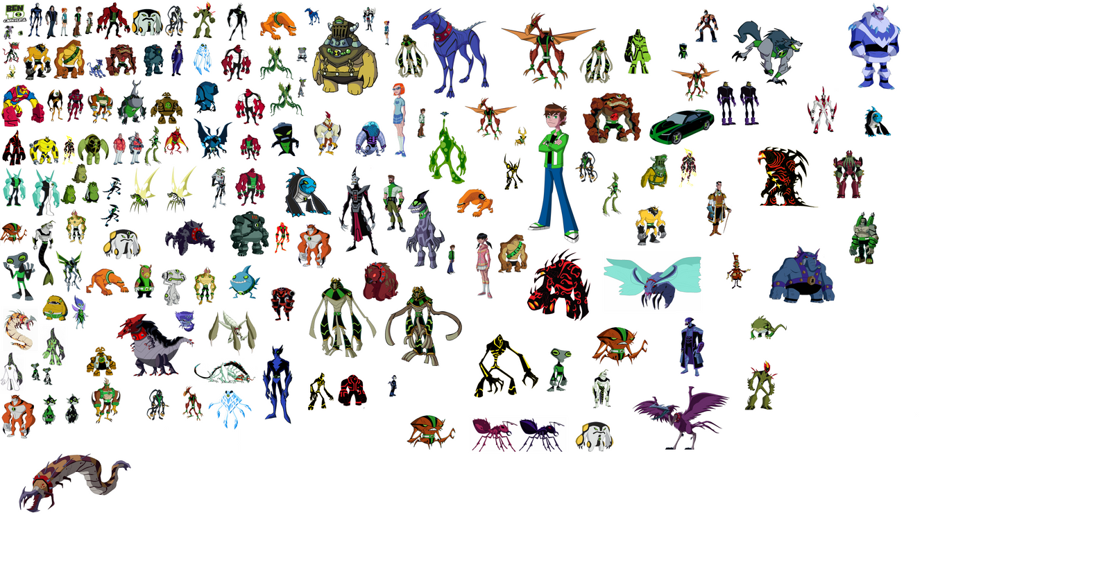 ben 10 all aliens name and images many hd wallpaper