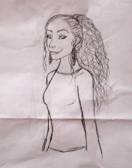Ravan Line Drawing by DoodlePixie