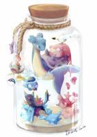 Mini ocean bottle by LuluGraffitiBoard