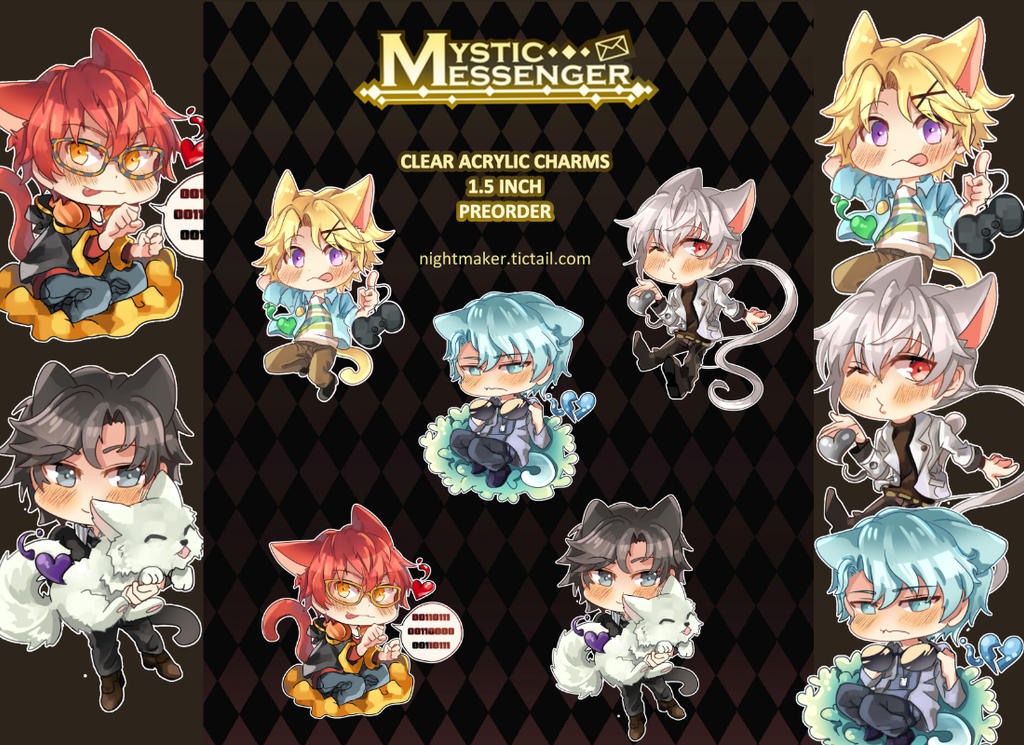 Mystic Messenger Charms - PREORDER by Nightmaker