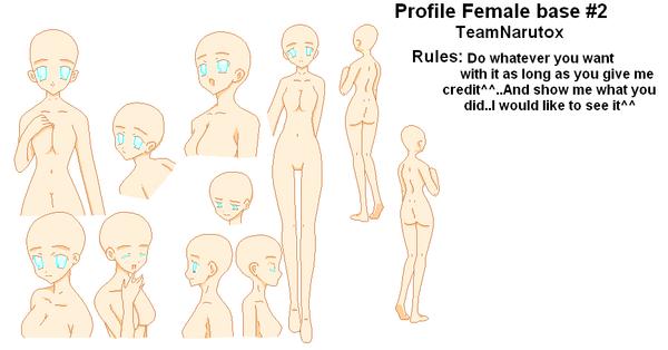 Profile female base 2 by TeamNarutox