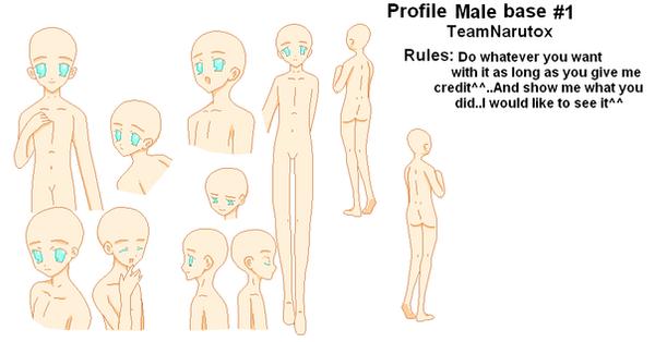 profile male base 1 by TeamNarutox