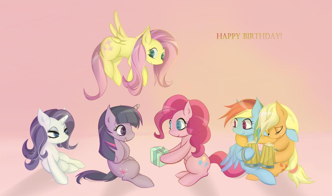 Happy Birthday Pone! by v-invidia