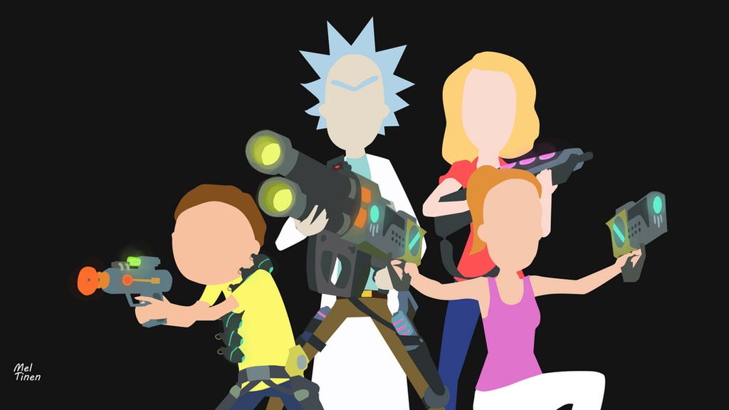 rick and morty minimalist wallpaper by meleusou on deviantart
