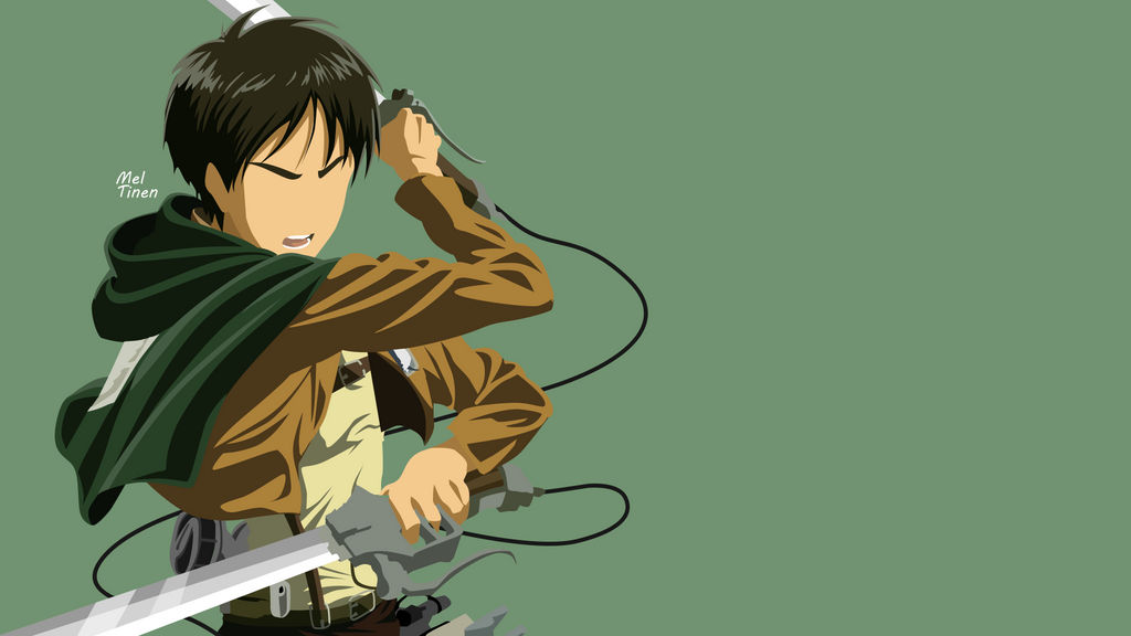 Eren Yeager Minimalist Wallpaper By Meleusou On Deviantart