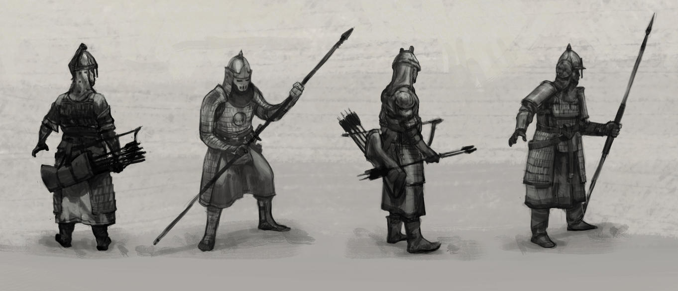 Mongol Soldiers by Iboltax