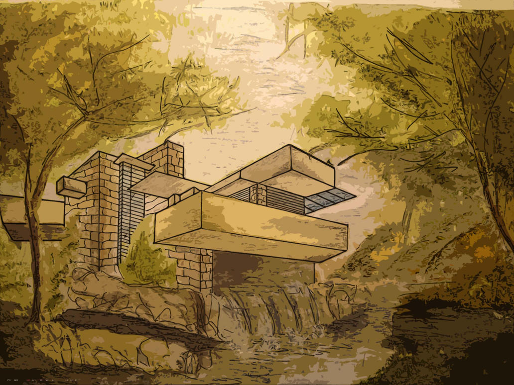 Waterfall House By Provakat On Deviantart