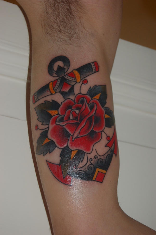 Rose Anchor Tattoo Pics Designs