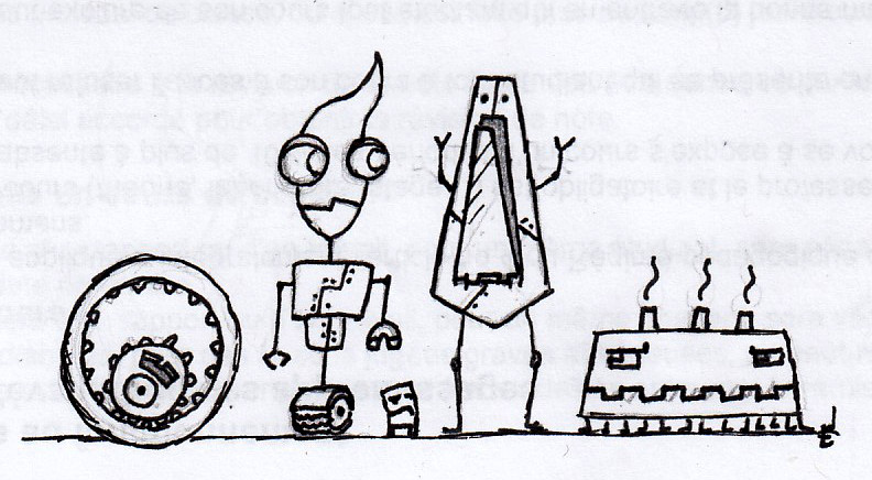 Late-Night Sketch: Useless Robots by xLeSpiderx