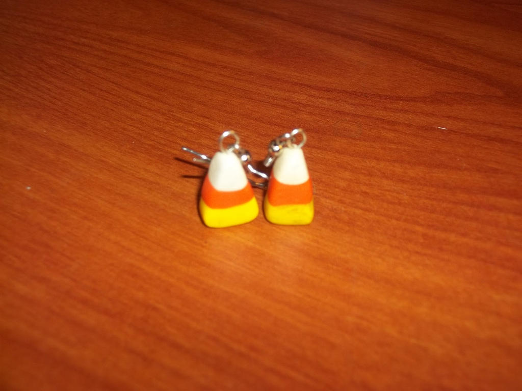 Polymer Clay Candy Corn Earrings By Skisicsmalone