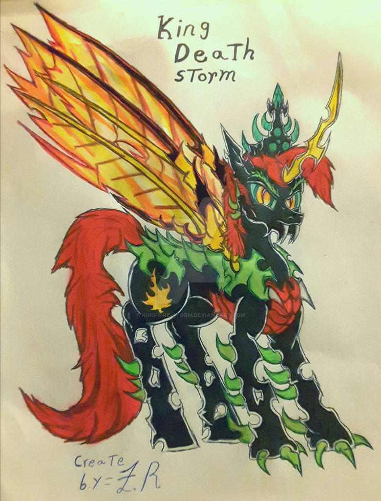 King Death Storm create by me by King-Fire-Storm on DeviantArt