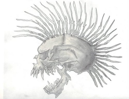 Mohawk Skull by pissedwriter on DeviantArt