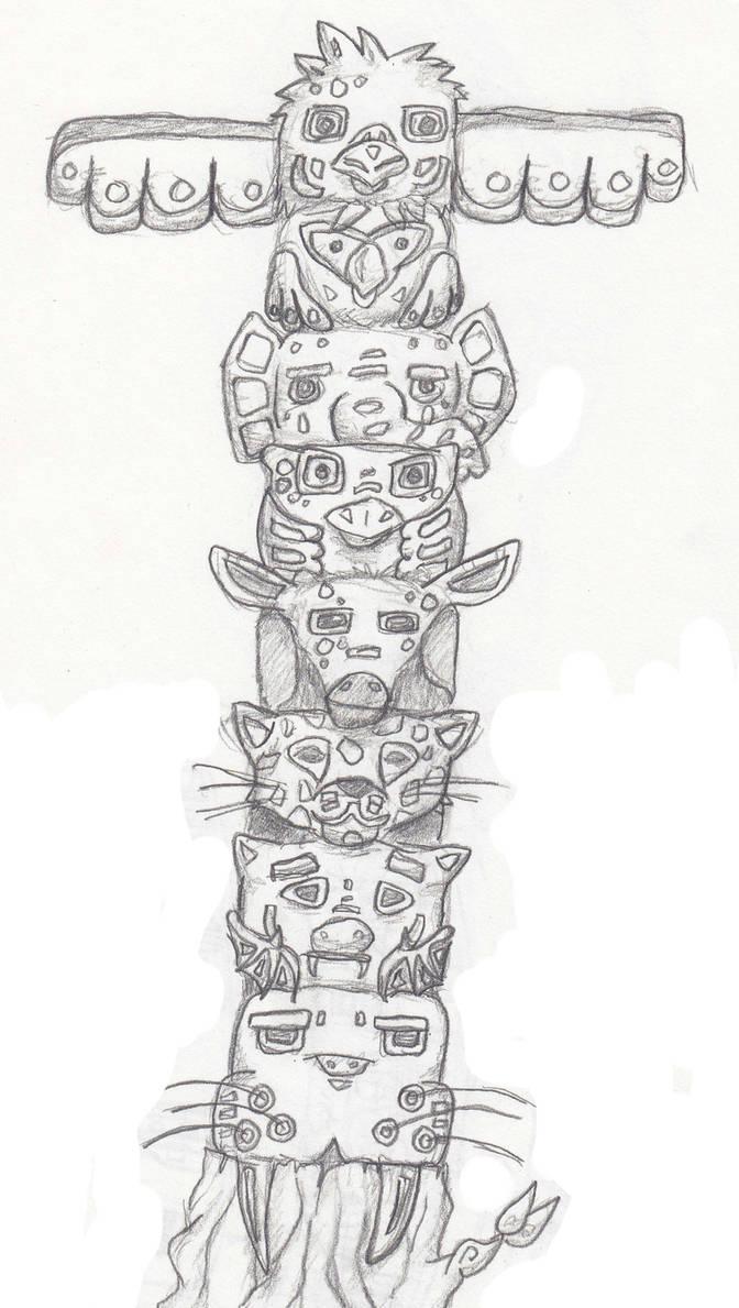 Totem Pole by Mono-Monkey on DeviantArt
