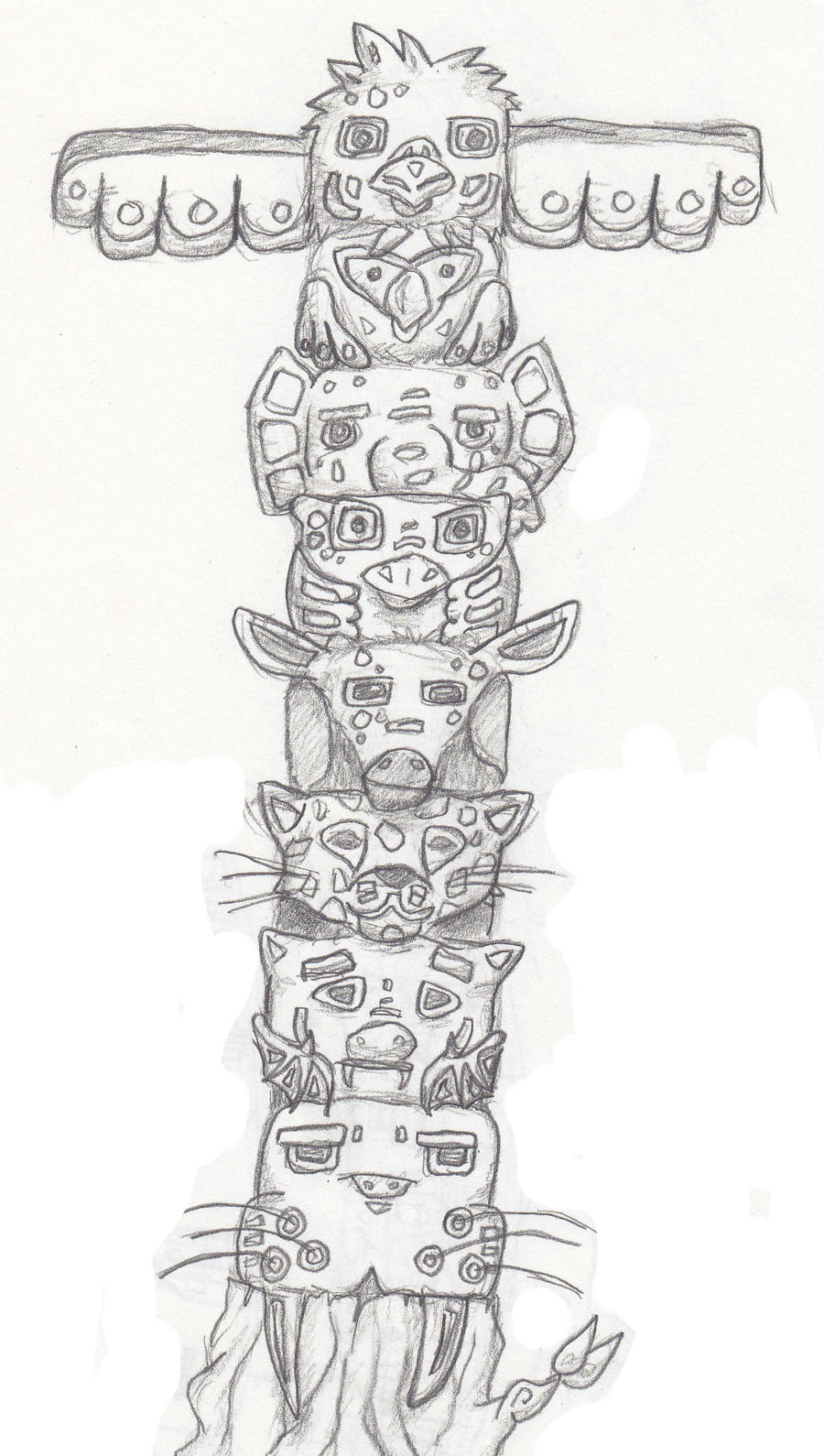 totem pole animal coloring pages - photo#36