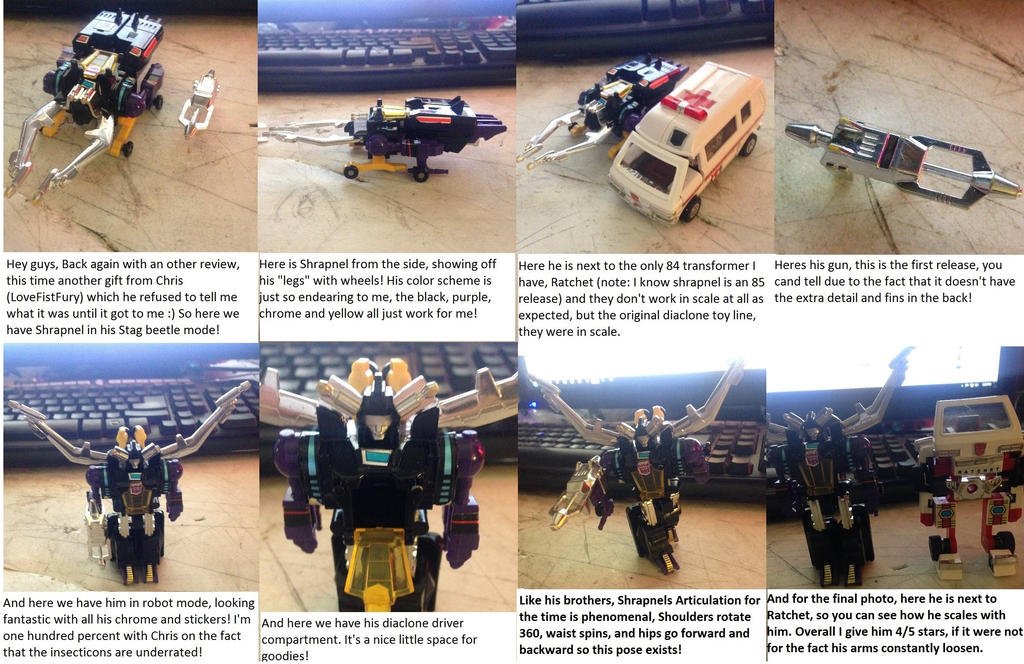 Transformers Generation 1 Shrapnel review by TyTyTec