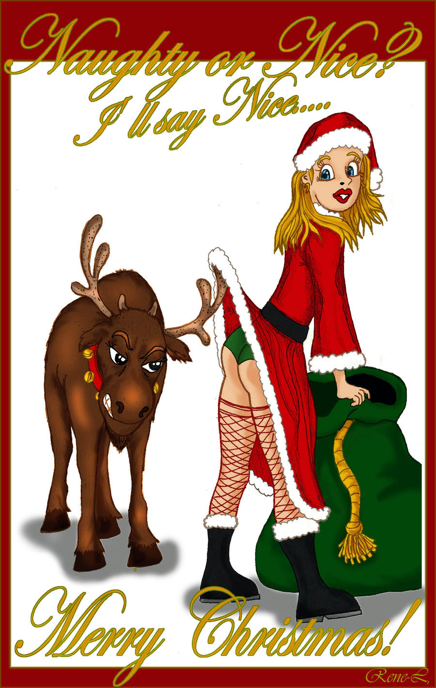Naughty or Nice MERRY CHRISTMAS 2011 by Rene-L on DeviantArt