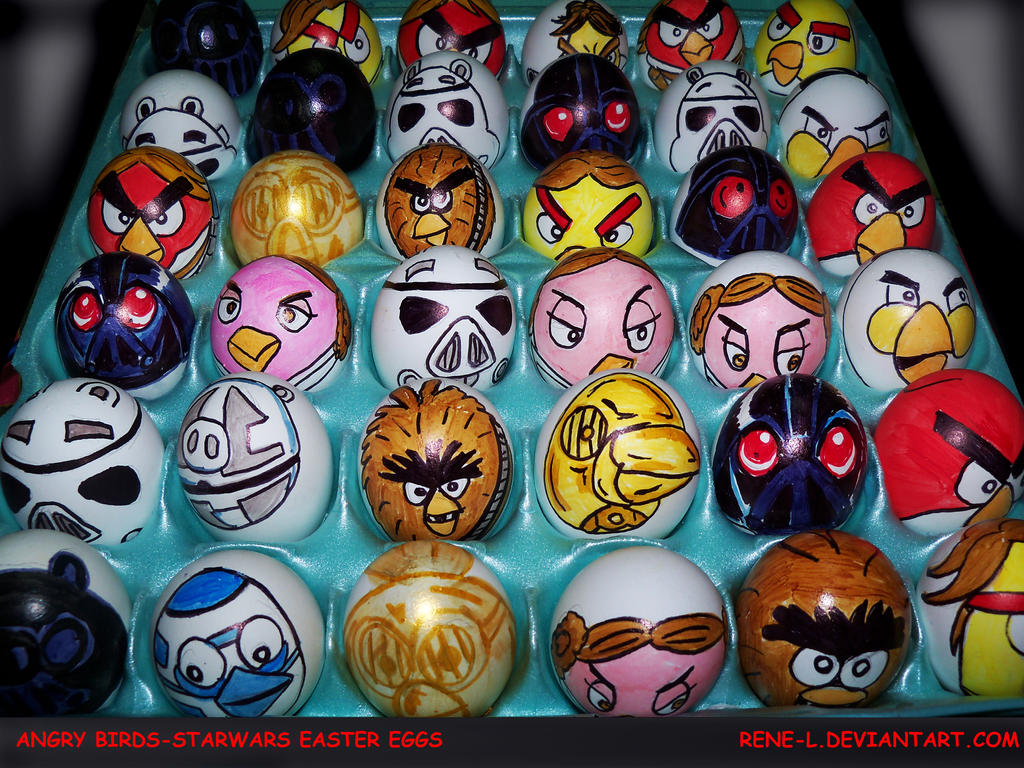 ANGRY BIRDS-STAR WARS EASTER EGGS by Rene-L on DeviantArt