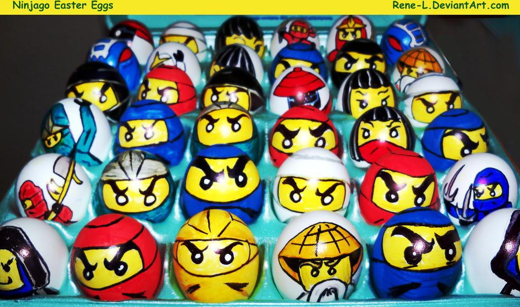 Egg Character Design Ideas : Ninjago easter eggs by rene l on deviantart
