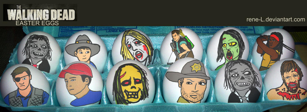 The Walking DEAD Easter Eggs by Rene-L
