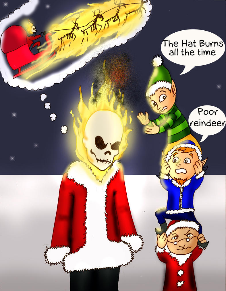 Reason Why Ghost Rider can't fill in for Santa by Rene-L