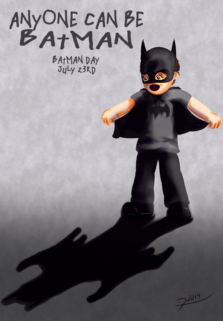 Batman Day Anyone can be Batman by Rene-L