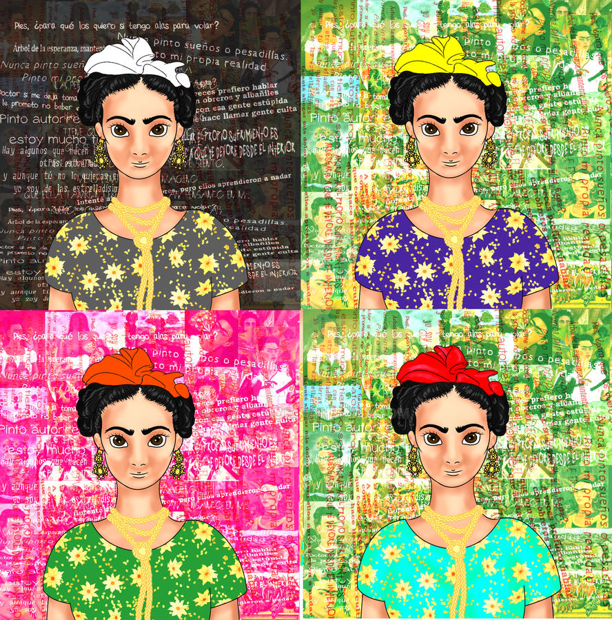 Frida manga T collage by Rene-L